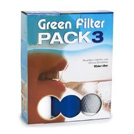 Green Filter set 3 cartucce ricambio 9-3/4''