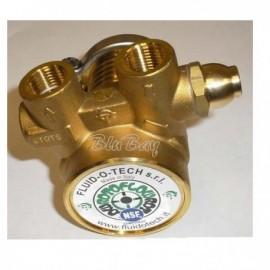 Pompa a Palette in ottone da 100 a 400 lt/h in ottone con Bay Pass per impianti gasatura ed osmosi