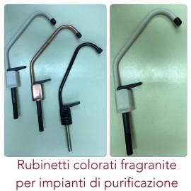 Rubinetto 1 via colorato bronzo,avena,nero e altri colori per impianti di depurazione.