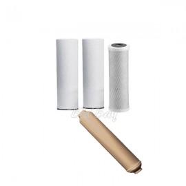 Kit filtri di ricambio per impianti ad osmosi inversa a più stadi filtranti