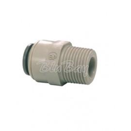 """Terminale diritto tubo Ø - filetto conico BSPT 1/4"""" X 1/4 (PI010802S)"""