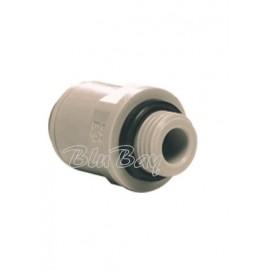 """Terminale diritto tubo Ø - filettatura cilindrica BSP 3/8"""" X 1/4 (NCPI011212S)"""