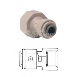 """Terminale diritto femmina Ø tubo - filetto BSP cilindrico estremità piatta 3/8"""" X 3/8""""(PI451213S)"""