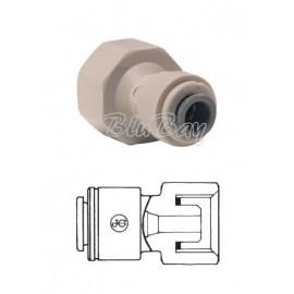 """Terminale diritto femmina Ø tubo - filetto BSP cilindrico estremità a cono 3/8"""" X 1/2 (PI451214CS)"""