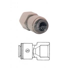 """Terminale diritto femmina Ø tubo - filetto UNS 3/8 X 1/2"""" (PI4512C5S)"""