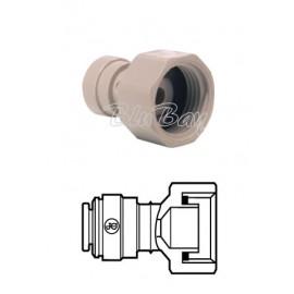 """Terminale diritto femmina Ø tubo - filetto BSP cilindrico 3/8"""" X 3/4 (CI321216S)"""
